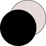 Mey® Serie Noblesse Farben Schwarz und Nude, runde Farbflächen