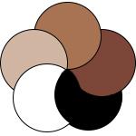 mey® Serie Business Class, runde Farbflächen in Weiß, Light Skin, Medium Skin, Dark Skin und Schwarz