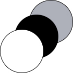 RE:THINK series, coloured circles in white, black, and grey melange | mey®