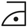 Symbol, Bügeln bis maximal 110° Celsius ausschließlich ohne Dampf
