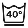 Symbol, Hygienewäsche waschbar bis 60 °C