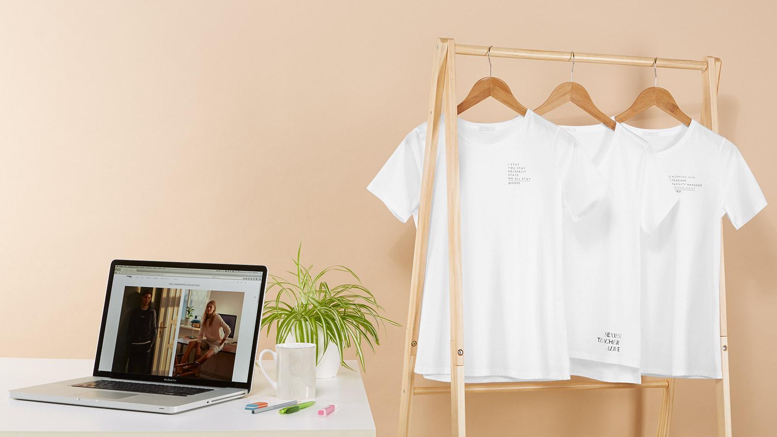 Weiße Damen-Shirts fürs Homeschooling